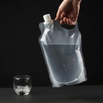 2L BPA-free Clear Flexible Small Drinking Water Tank for Outdoor Camping Plastic Storage Bag